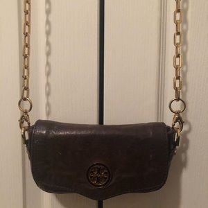 Tory Burch Leather Classic Crossover Mini Bag